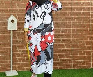 Long dress mickey mouse
