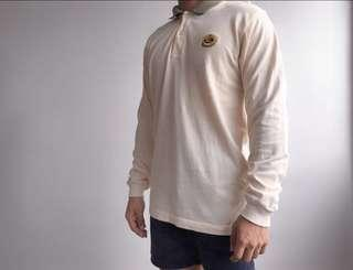 BURBERRY VINTAGE YELLOW EMBROIDERED LOGO L/S SWEATER