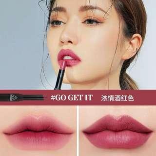 3ce 3 concept eye stylenanda slim velvet lip color go get it 濃情酒紅色霧面唇膏