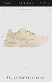 e378d0f8d23 Gucci Rhyton Leather Sneakers Distressed