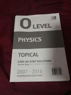 physics o level topical answer booklet