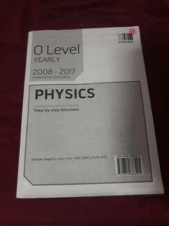physics o level yearly/ tys asnwer booklet