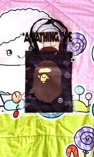 Brand New A Bathing Ape Bape 1st Black Camo Tote Bag.