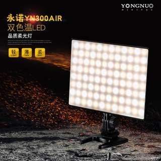 🚚 YONGNUO YN300 Air LED Camera Video Light with Adjustable Color Temperature 3200K-5500K for Canon Nikon Pentax Olympus Samsung