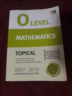 emath/mathematics o level topical question booklet