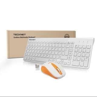 TeckNet X615 2.4G Slim Wireless Keyboard and Mouse Set