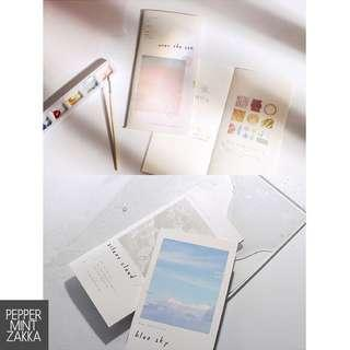 NOTE FOR TN Insert Booklet 1pcs [210x106 Mm][Sky/Sea/Morning/Dew][Squared/Blank]