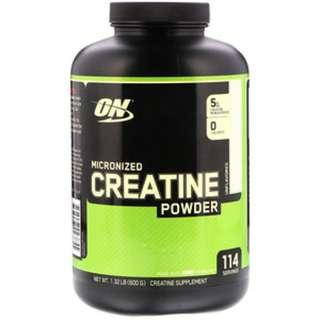 IN STOCK Optimum Nutrition, Micronized Creatine Powder, Unflavored, 1.32 lb (600 g) SAVE SALE