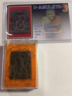 Thai Amulet Lersi Luang Pu Phong Wat Pah Non Lum Duon BE2551 Scared Bai lan 108 Holy Powder with Tatkrut (Black)