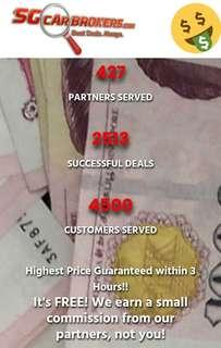 SELL YOUR CAR WITHIN 3 HOURS CASH DEAL !!! , HIGHEST PRICE GUARANTEED! SELL, SCRAP, EXPORT, LEASE, LOAN OR INSURANCE!