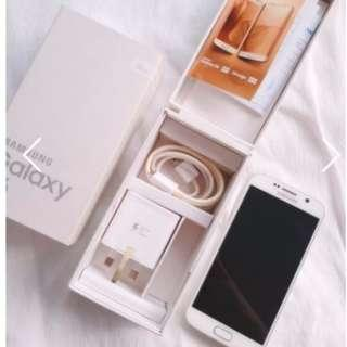 S6 Samsung Galaxy White 32GB Phone and accessories