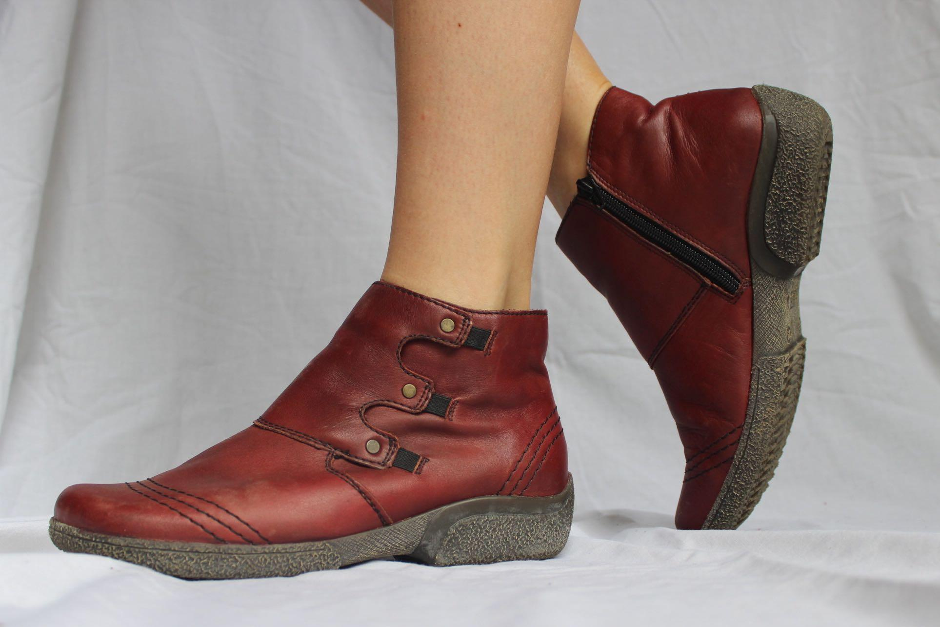 🌙 'RIEKER ANTISTRESS' RED PIXIE BOOTS 🌙