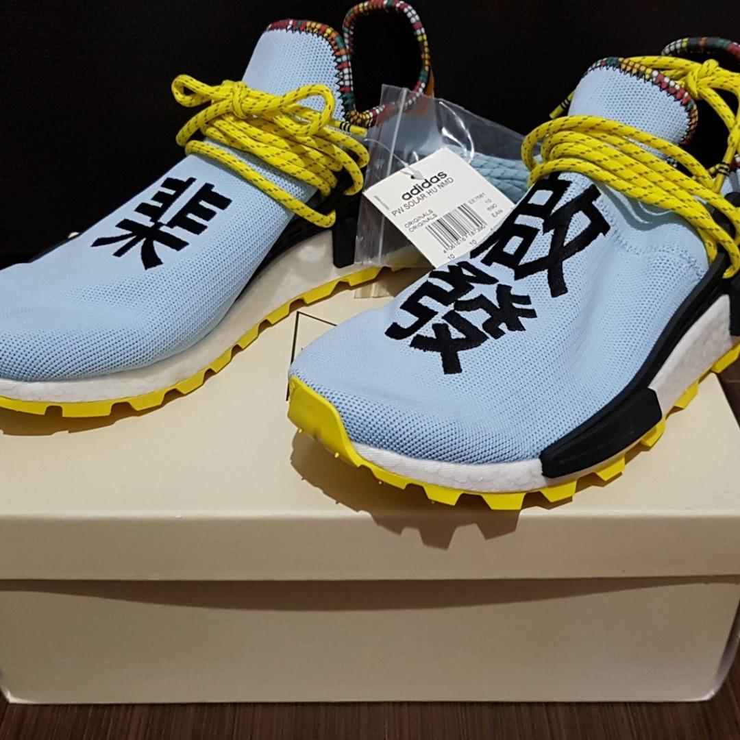 9a62e953eb18 Adidas NMD Human Race Pharrell Williams Clear Sky UK 10 US 10.5 ...