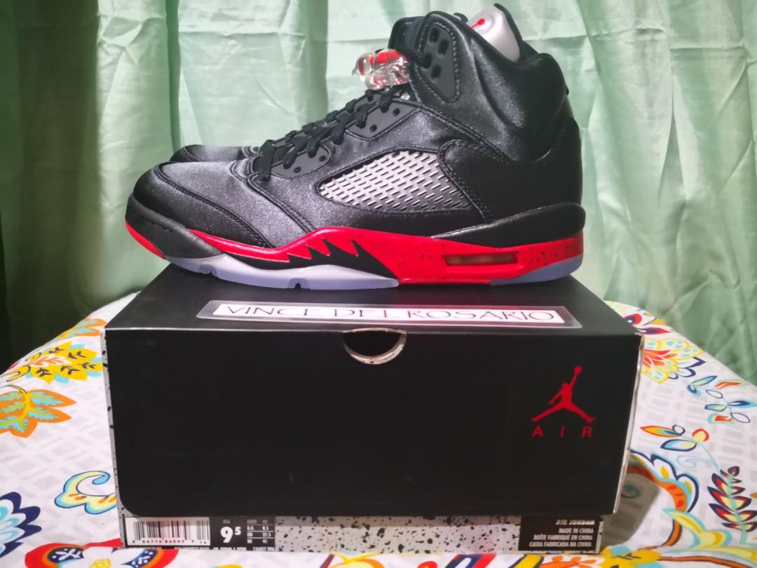 huge discount f8320 89e90 Air Jordan 5 Satin Bred, Men s Fashion, Footwear, Sneakers on Carousell  Air  Jordan Leonardo Da Vinci ...