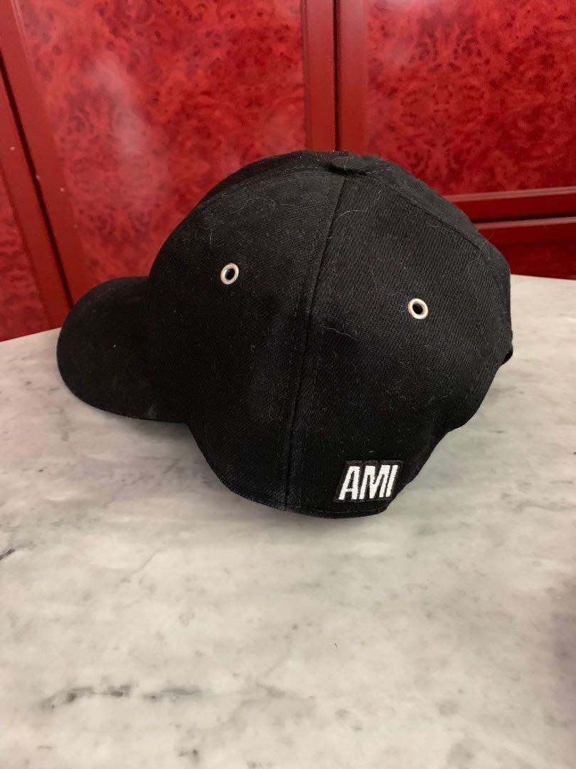 AMI Paris Black Baseball Cap 2451538b819