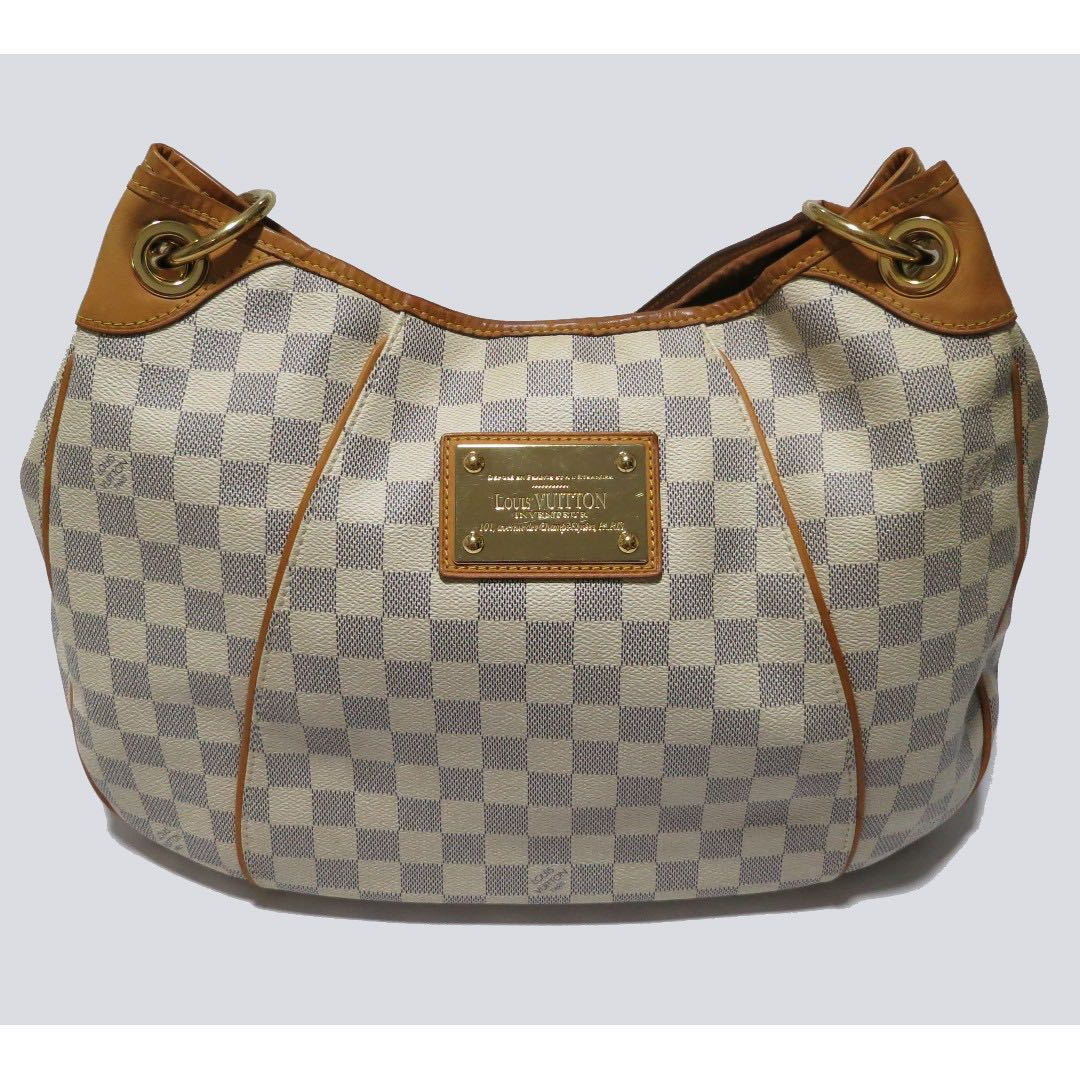 c68022e306e92d Authentic Louis Vuitton Galliera PM Damier Azur White shoulder bag ...