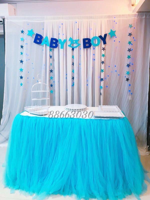 Baby Boy Baby Shower Happy Fullmonth Happy Birthday Setup