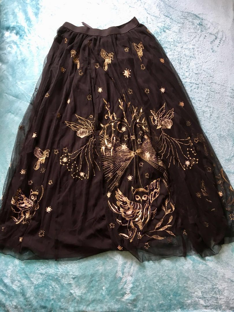 9b606e3c7a Black Friday Sale] Zara LONG EMBROIDERED TULLE SKIRT (Brand new with ...