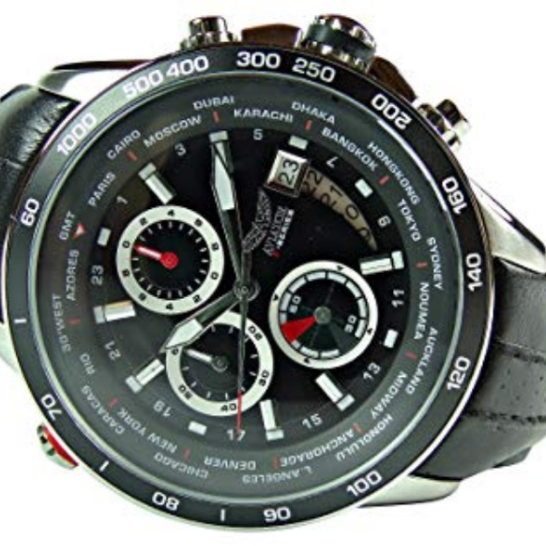 2d237ad1ab47cc brand new AVIATOR AVW8974G76 Men s Pilot Aviation Chronograph Quartz ...