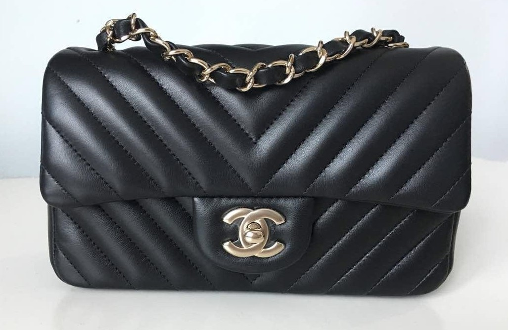 94183835085b3f 26 Chanel Chevron Quilted Classic Mini Rectangle, Luxury, Bags ...