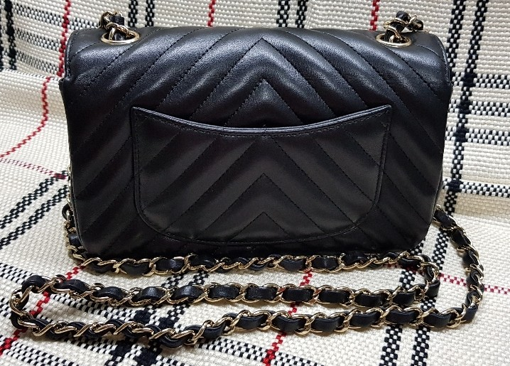 5847e6d1f8f1b0 #26 Chanel Chevron Quilted Classic Mini Rectangle, Luxury, Bags & Wallets,  Handbags on Carousell