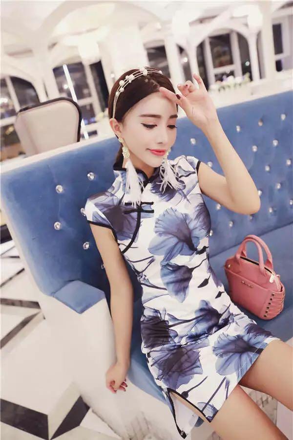 Brand new floral Cheongsam qipao dress 749e8ea78