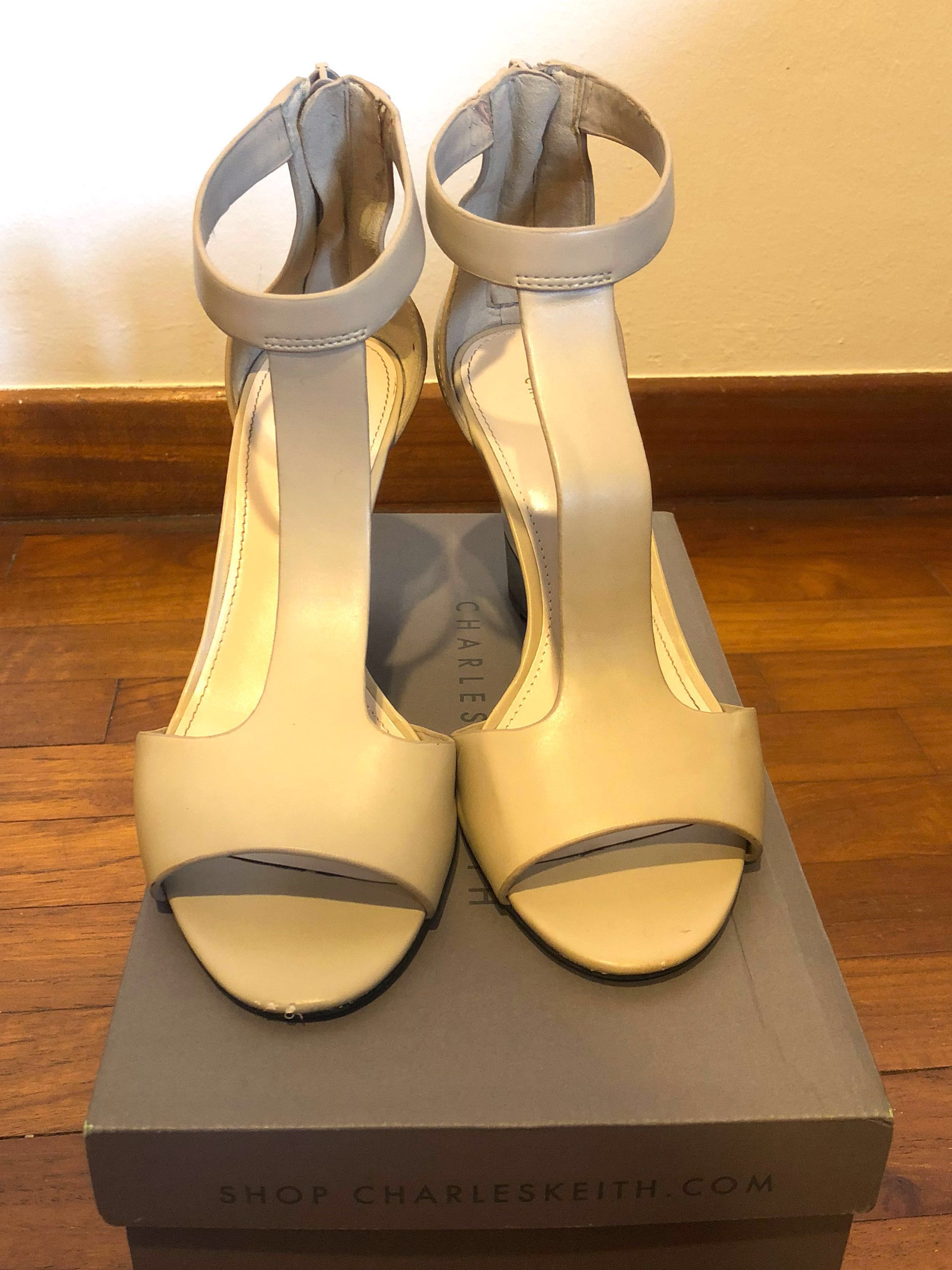 a72c827fc8 Charles & Keith Nude Wedges, Women's Fashion, Shoes, Heels on Carousell