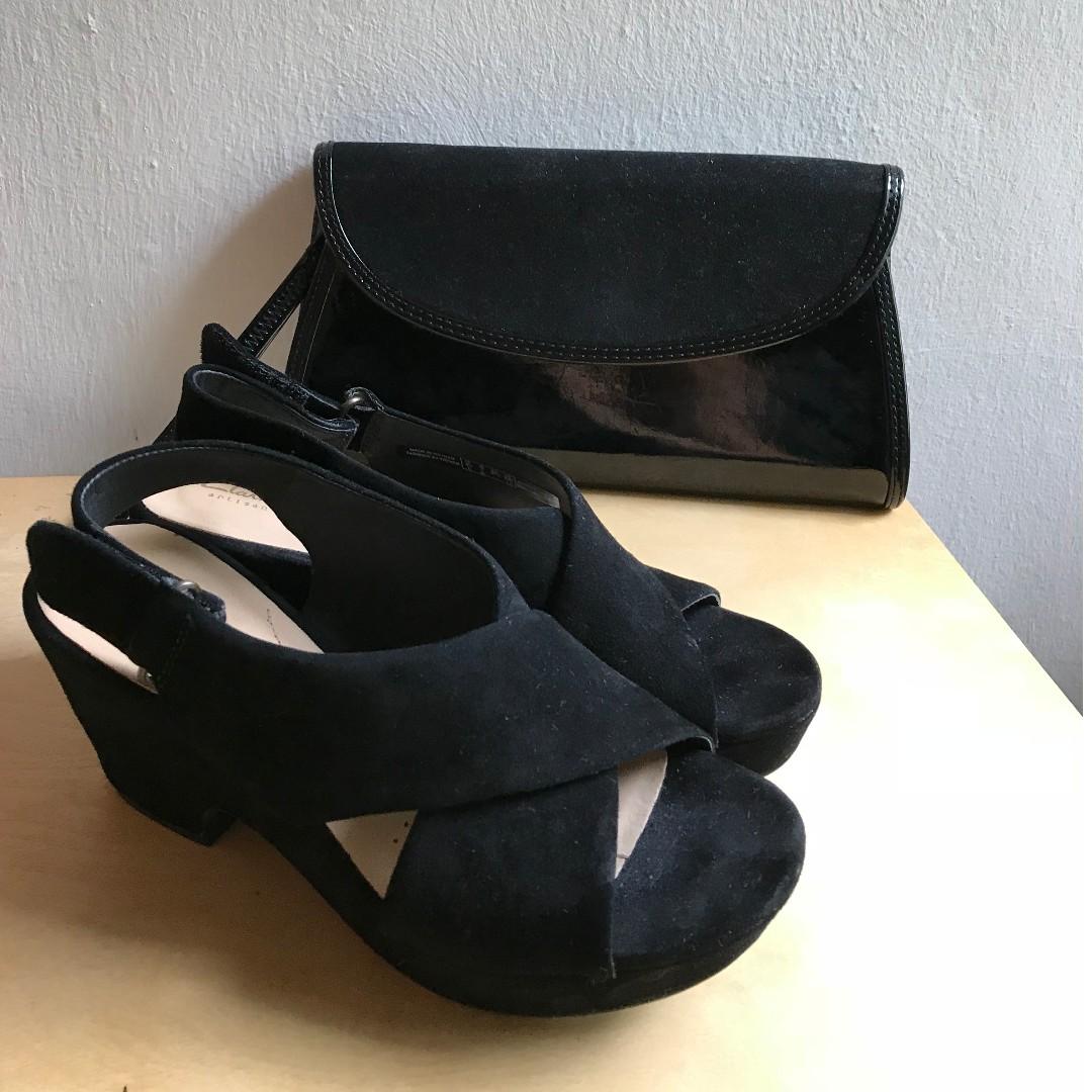 e27bfd4b7a Clarks Maritsa Lara, women's sandals, black suede Clarks EUROPE ...