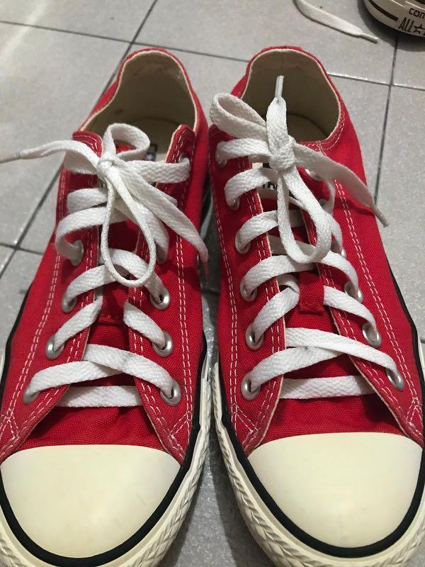 Converse Red sneakers 2 pair size 40