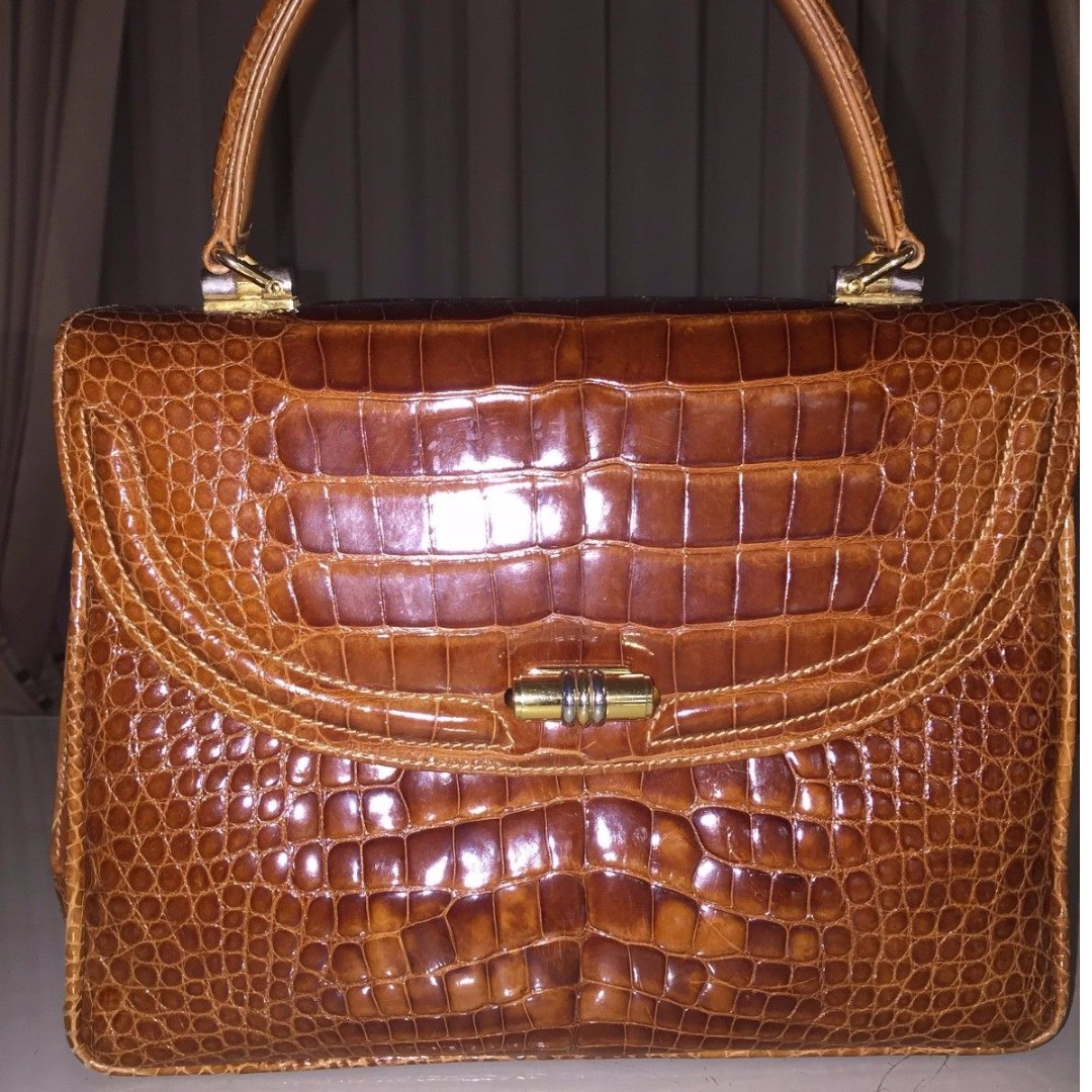 c617797bd2546 Gucci Brown Kelly bag marrone in crocodile leather