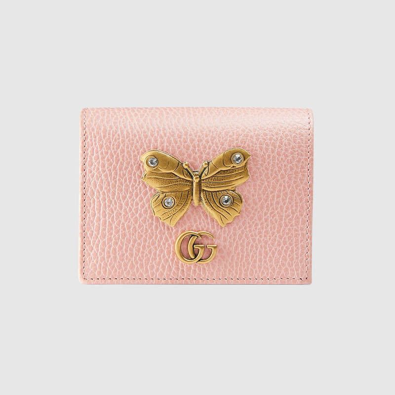 b466859ae1e GUCCI BUTTERFLY EMBELLISHED WALLET