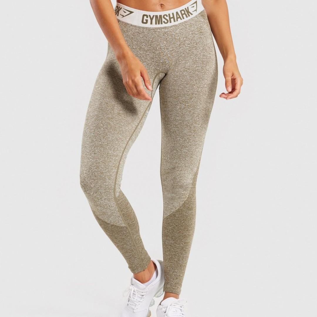 b0ff8678fef09 GYMSHARK Flex Leggings (khaki/sand), Women's Fashion, Clothes, Pants ...