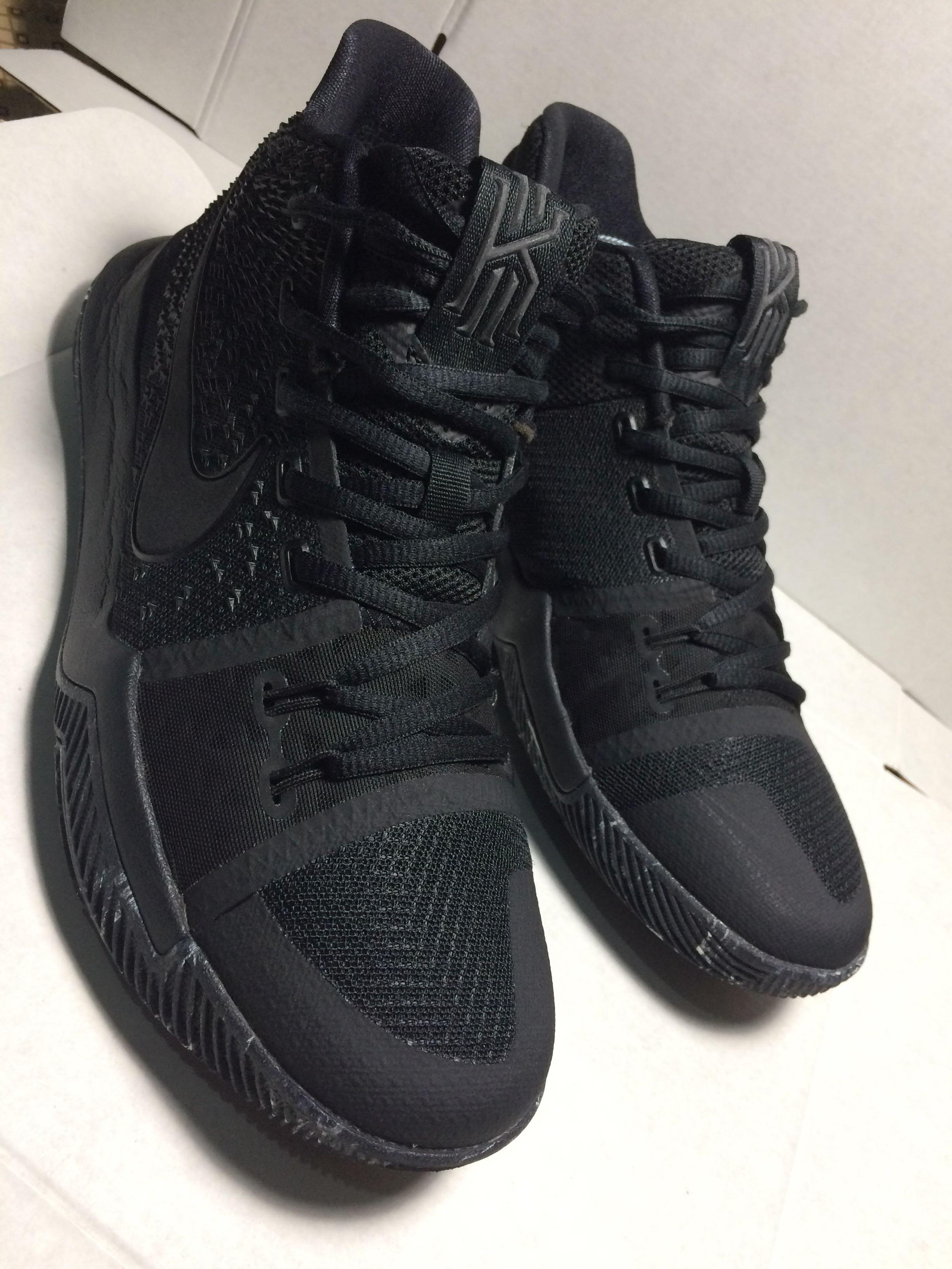timeless design 3b362 f9bb5 Kyrie 3 Triple Black/Marble, Men's Fashion, Footwear ...