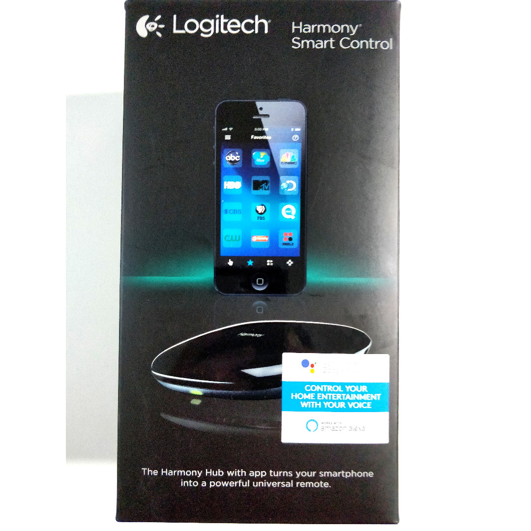 Logitech Harmony Smart Control with Hub and Remote Support Amazon Echo Dot  Google Home