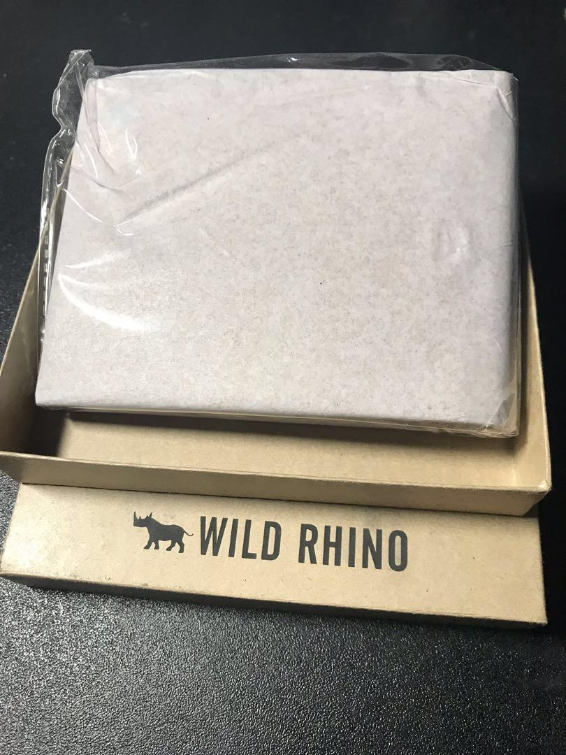 """Men's Wallet: """"Wild Rhino Leathers Bifold Wallet TAN"""""""
