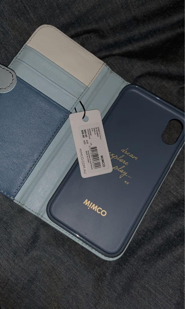Mimco iPhone X flip cover