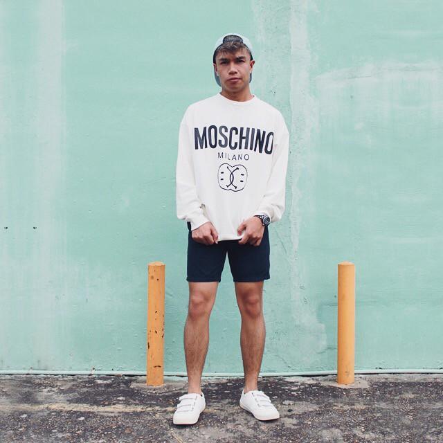 Moschino Smiley Sweatshirt Size XL - Mint Condition