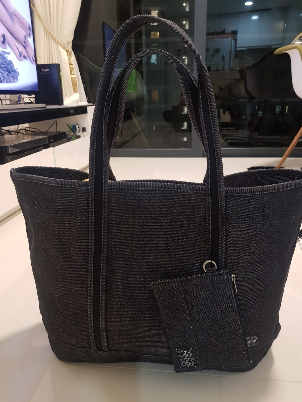 494bb1608fb293 Porter Denim Tote Bag, Women's Fashion, Bags & Wallets, Handbags on ...