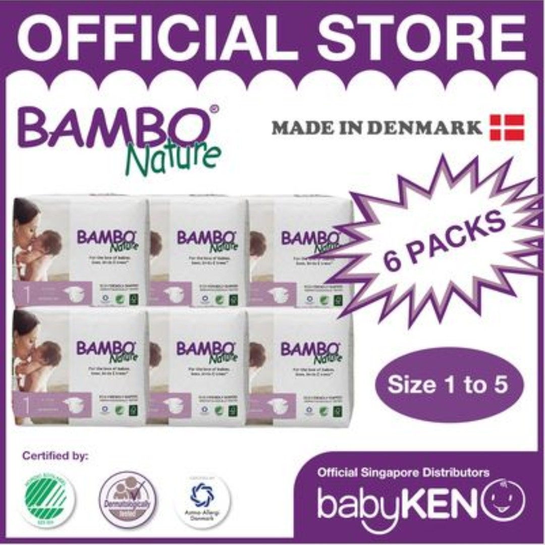 Reduced Price] Bambo Nature Eco-Friendly Baby Diapers (6