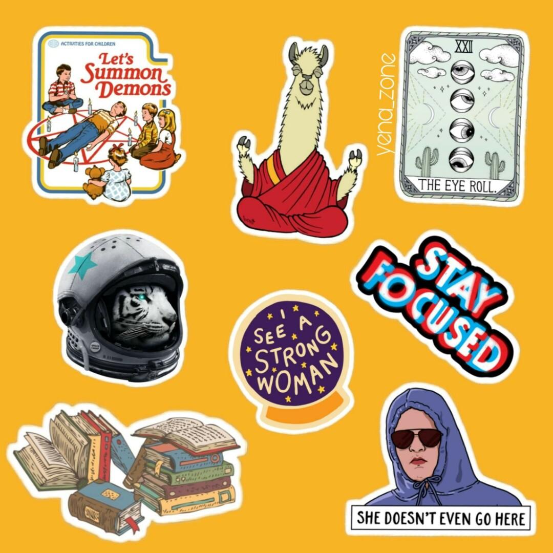 Retro sticker design craft craft supplies tools on carousell