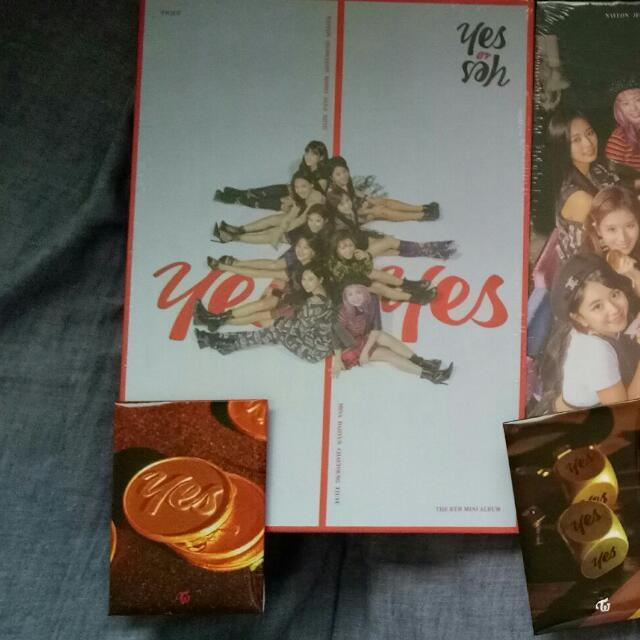 SEALED FIRST PRESS TWICE YES OR YES ALBUMS WITH POSTER AND PREORDER CARDS