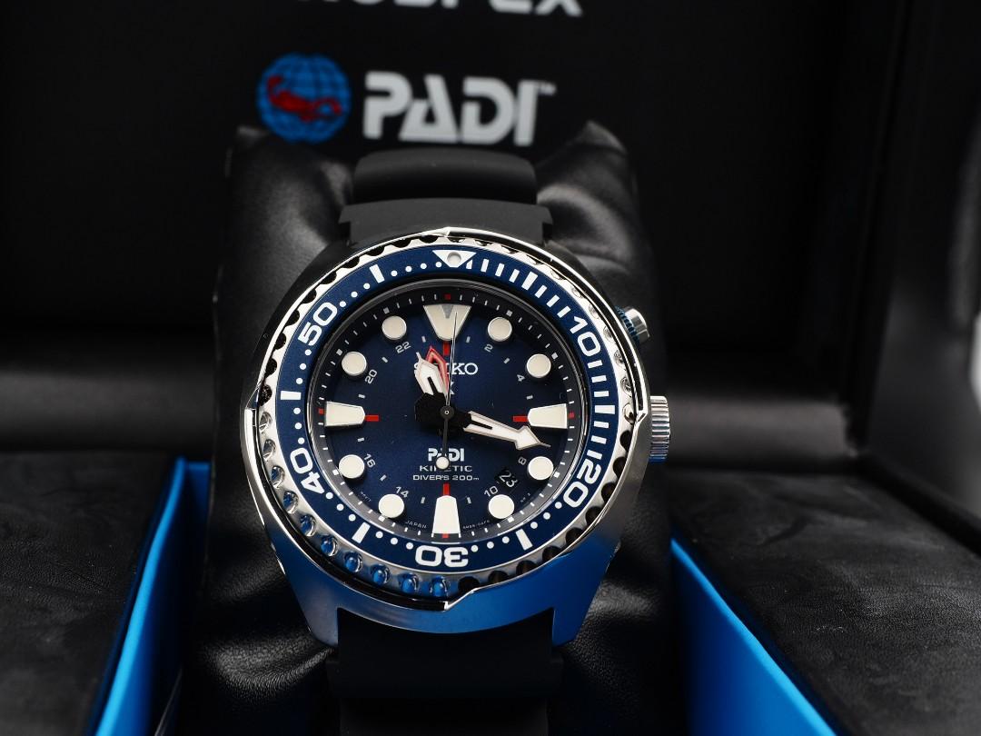 Seiko Prospex Sun065 Specia Edition Padi Kinetic Gmt Diver Watch
