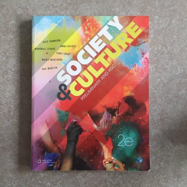 SOCIETY AND CULTURE preliminary and hsc textbook REDUCED TO $45!!!
