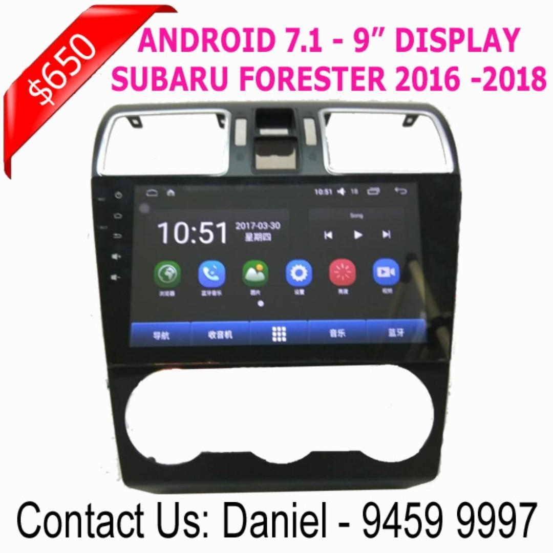 """SUBARU FORESTER Android 7.1 - 9""""Display Multimedia AV Receiver"""