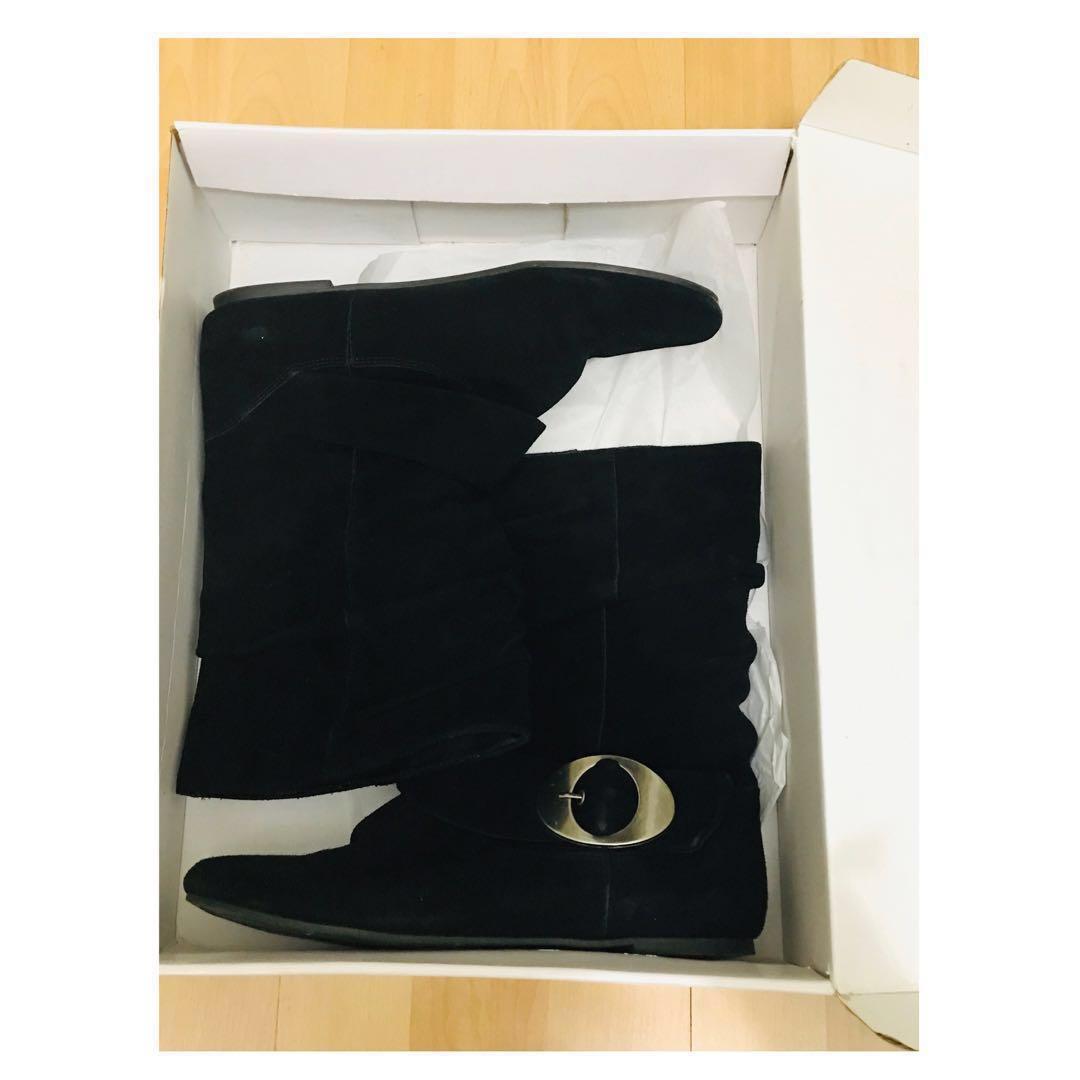 Suede Dr. Scholl's Orion Black booties