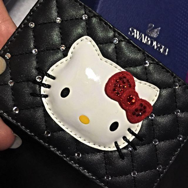 9227c3e80 Swarovski Crystals Black Hello Kitty Cardholder, Women's Fashion on  Carousell