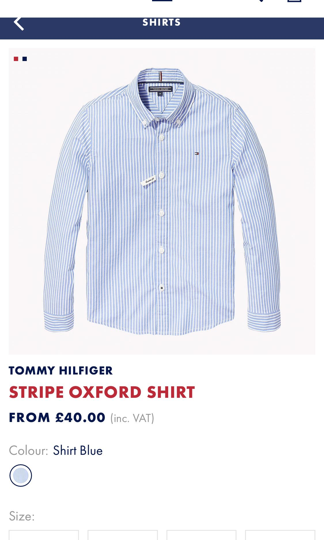 0c147c0c6 TOMMY HILFIGER Authentic Stripe Oxford Shirt, Men's Fashion, Clothes ...