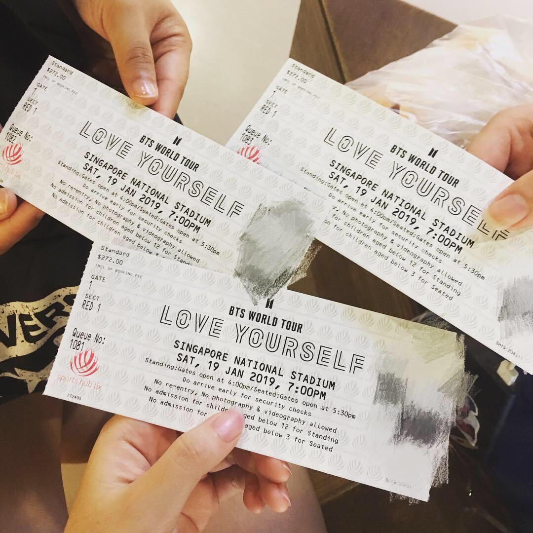Concert Tour: [Trade]BTS Loveyourself Tour Singapore Concert Tickets