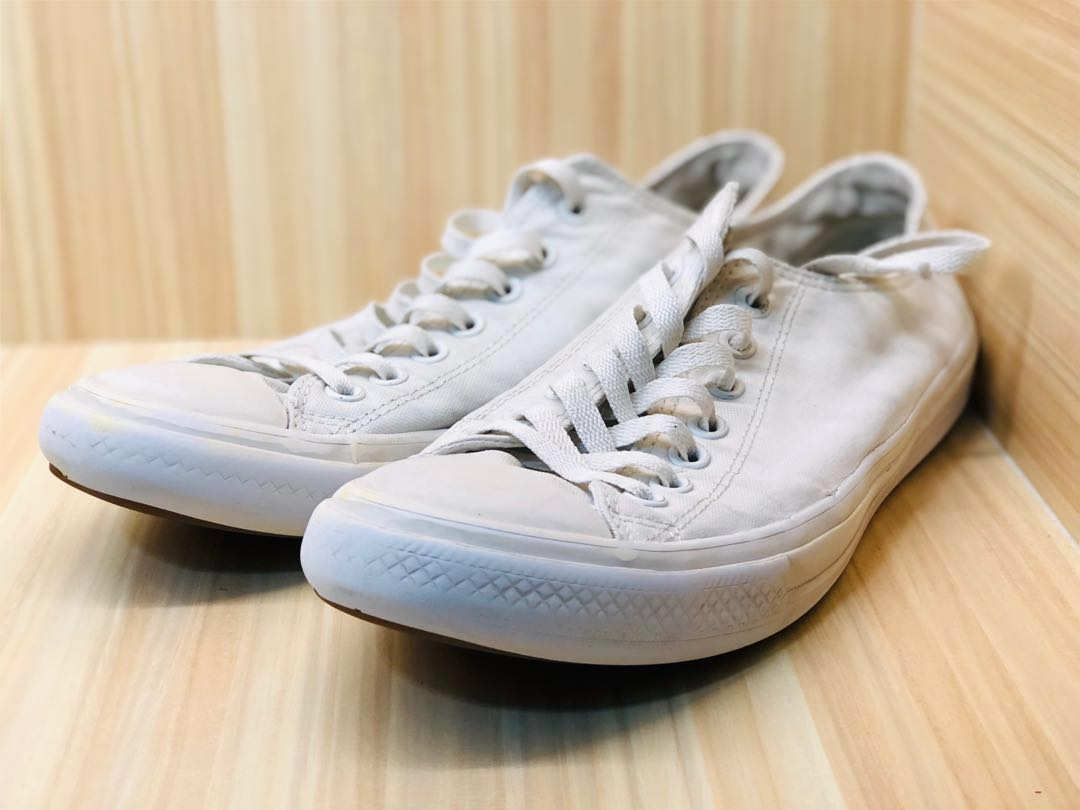 437bdbd9d468b3 triple white converse chuck taylors + triple white vans old skool ...