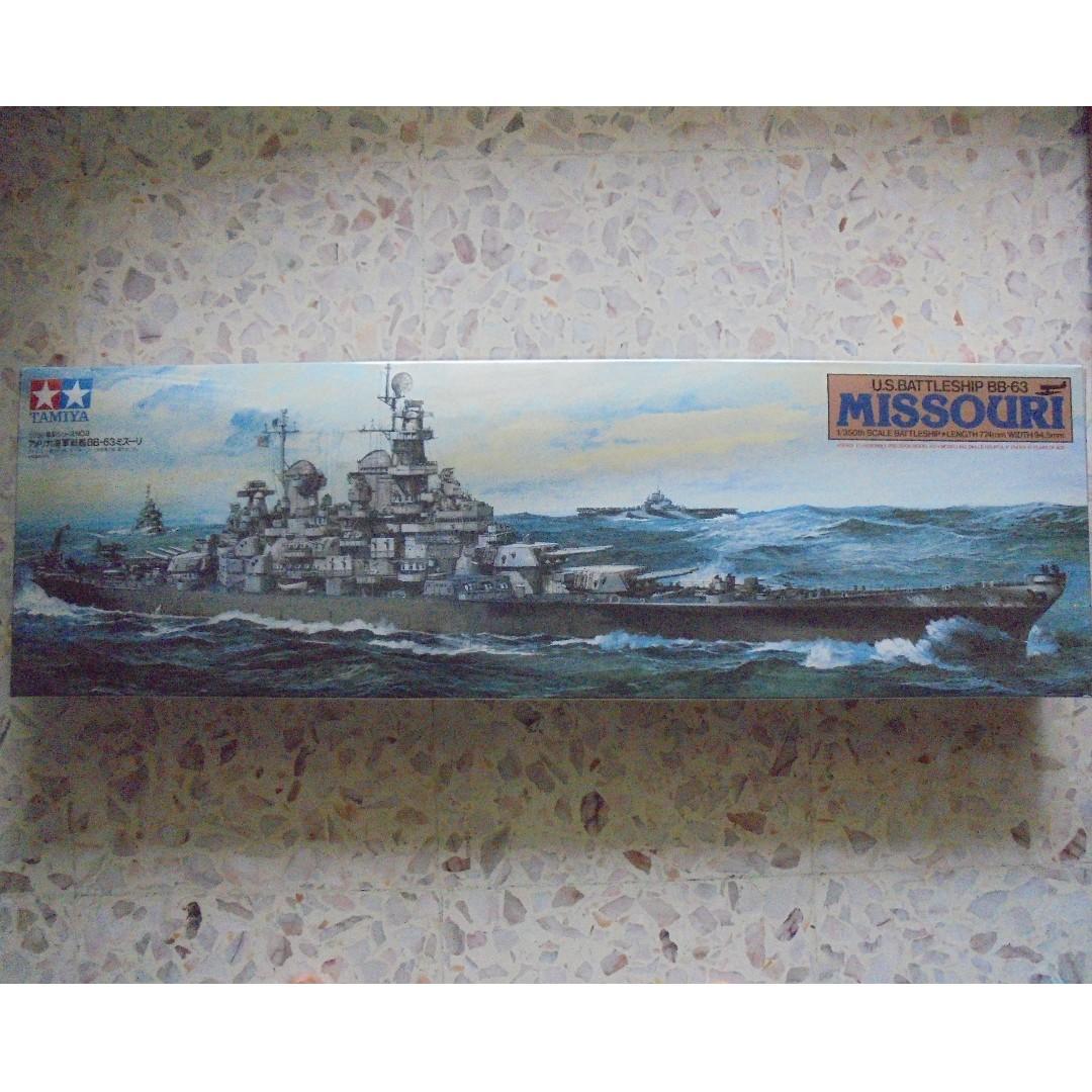 U S  BATTLESHIP BB-63 MISSOURI (TAMIYA 1/350 SCALE), Toys